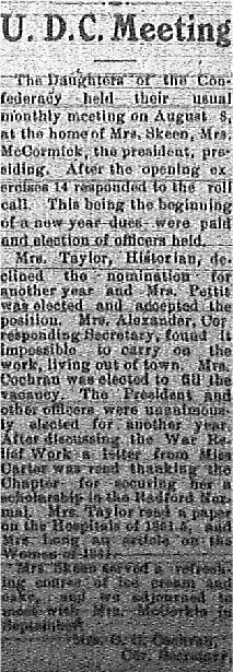 U.D.C. August 22 1917