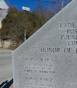 Pound memorial close up